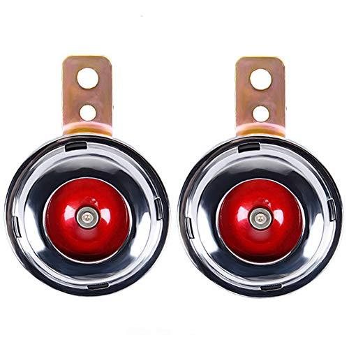 (IronBuddy Motorcycle Horn 12V 1.5A Universal Waterproof 105db Round Loud Horn Speaker (Pack of 2))