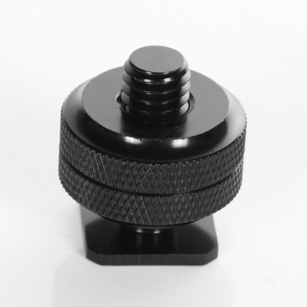 Fotga Double Layer 3/8' Screw Bolt Hot Shoe Adapter for Tripod Camera DC Flash Holder Bracket
