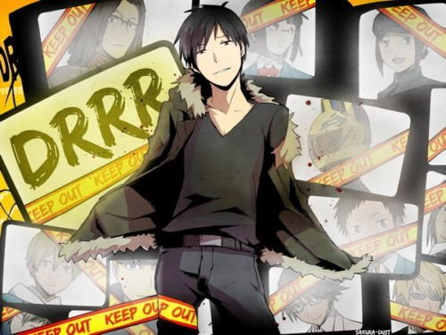makeuseof 24X36 INCH / ART SILK POSTER / 032 Durarara - Celty Mikado Fight Japan Anime ()