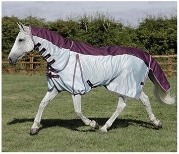 Premier Equine Stay-Dry Mesh Air Fly Rug - Manta antimoscas para Cama de 15,24 cm, Color Vino