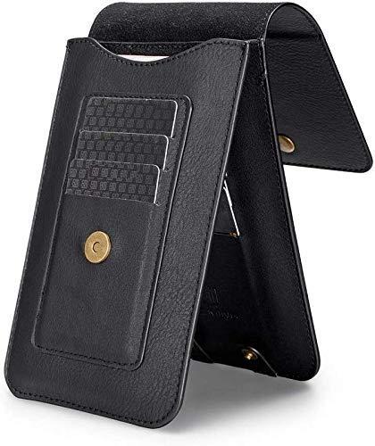 SmartPoint Genuine Leather Royal Double Mobile Pouch Belt Clip Cases Waist Bag Pack for Xiaomi Redmi 9 Power - Black (2… 2021 July Magnet Lock Provides Better Grip Scratch Resistant