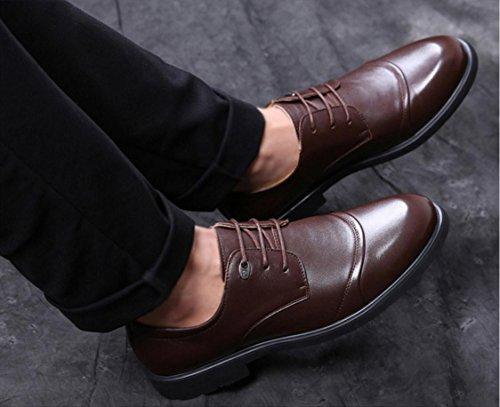 WZG Otoño zapatos de vestir de negocio de los nuevos hombres de 48 yardas zapatos casuales zapatos de gran tamaño de los hombres de los hombres zapatos de trabajo brown strips