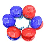 Andoer Pair of Finger Castanets Clackers 2pcs Plastic Percussion Instrument Idiophone for Dance Show KTV Party Kids Games