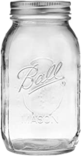 product image for Ball Mason Jar, Clear Glass Ball Collection, Heritage Series, Regular Mouth, 32 ounces