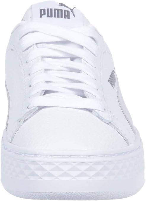 puma smash platform l white
