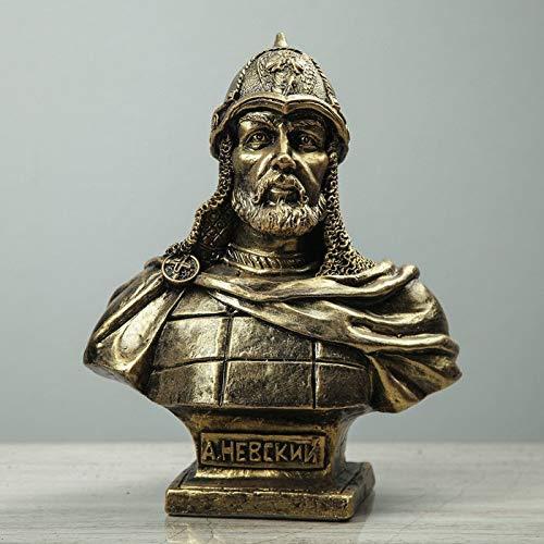 Russian Souvenirs Alexander Nevsky Gold Bust Sculpture Statue Collectible Art Figurine Figure
