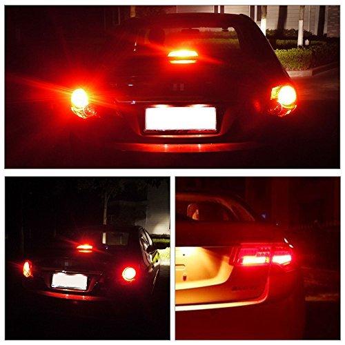 YITAMOTOR 2x 1157 2057 2357 7528 BAY15D LED Bulbs LED Bulbs Replacement for Turn Signal Lights Yellow 12-24V