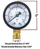 Low Pressure CO2 Gauge for Beer/Soda Keg System Regulator