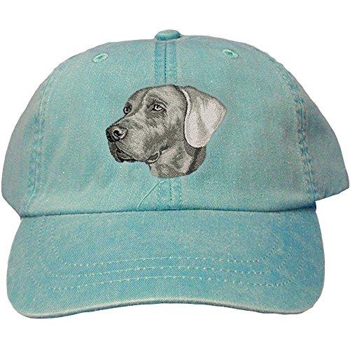 Cherrybrook Dog Breed Embroidered Adams Cotton Twill Caps - Caribbean Blue - Weimaraner (Weimaraner Hat)