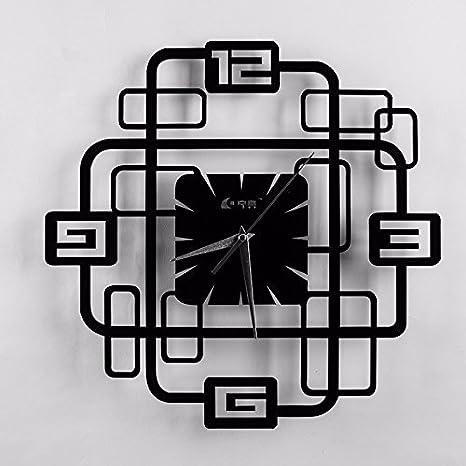 FortuneVin Relojes de Pared Mute Silencioso Cocina Decorativas para el hogar la Cocina la Oficina la Escuela Reloj de Pared de Cuarzo Reloj de 8-Edge-Burn: ...