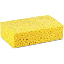 """Premiere Pads PAD CS3 Large Cellulose Sponge, 7-51/64"""" Length by 4-17/64"""" Width, Yellow (Case of 24)"""