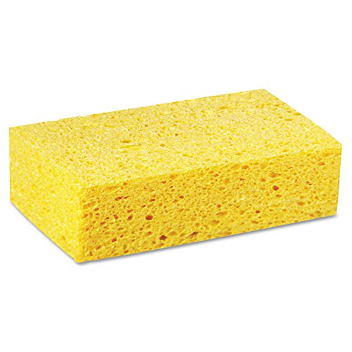 Premiere Pads PAD CS3 Large Cellulose Sponge, 7-51/64' Length by 4-17/64' Width, Yellow (Case of 24)