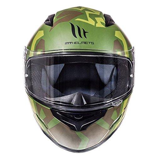 Amazon.es: MT Mugello Casco de moto, diseño militar de camuflaje, de cara completa