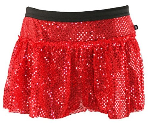 Red Sparkle Running Skirt S (Sparkle Red)