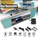 Lljin 7.0 InchTouch Screen FHD 1080P Rear View Mirror Monitor Car DVR Camera Recorder (Ship from US)