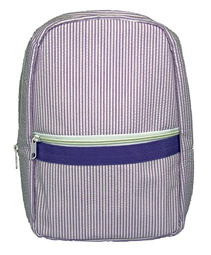 Children's Backpack Seersucker (Large Lavender)