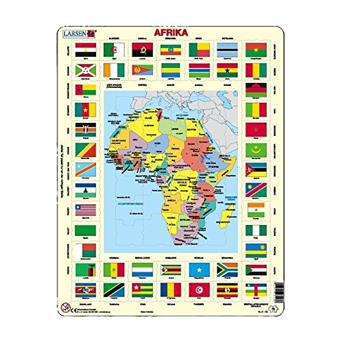 (Larsen Map/Flag Africa puzzles (70 Piece))
