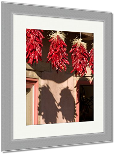 Ashley Framed Prints Three Hanging Ristras, Wall Art Home Decoration, Color, 40x34 (frame size), Silver Frame, AG5450113 (Decorations Seasonal Catalog)