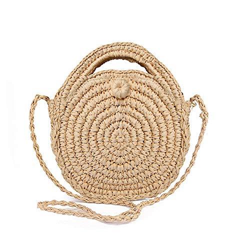 Olyphy Retro Crossbody Bag for Women, Woven Straw bag Envelope Shoulder Bag Handbag Summer Beach Purse (white)