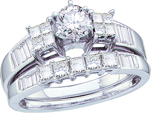 1.00CTW DIAMOND LADIES BRIDAL SET WITH 0.40CT ROUND CENTER (0.4 Round Ct Center)