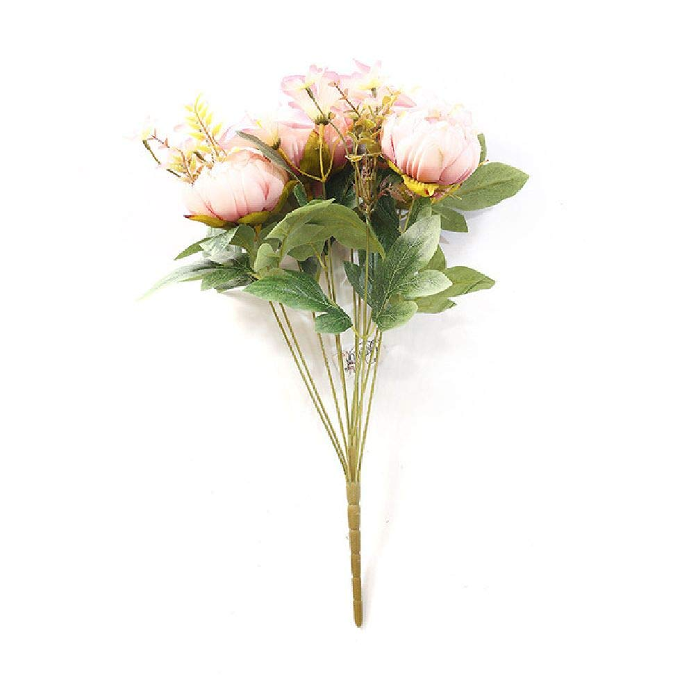 人工シルクの牡丹の花 ヨーロピアンの牡丹 造花 フェイク牡丹 One Size ピンク SDJKL32795755766 B07GJSNVNW ピンク