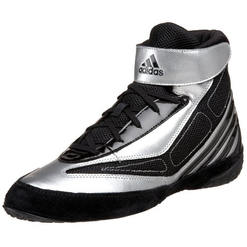 adidas Men's Tyrint V Wrestling Shoe,Black/White/Silver,11 M US
