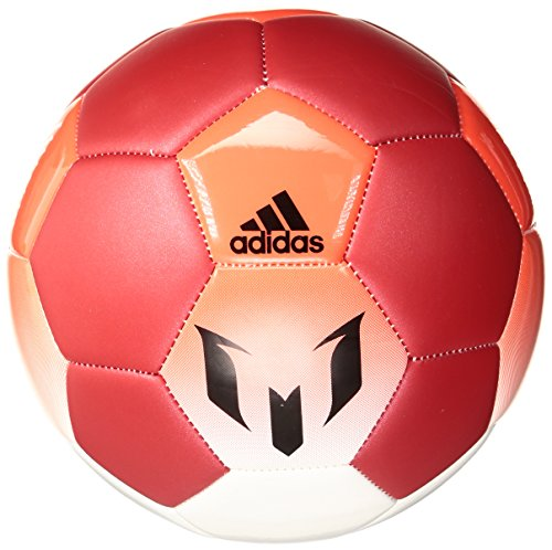 adidas Performance Messi Soccer Ball, White/Red/Solar Red, Size 3