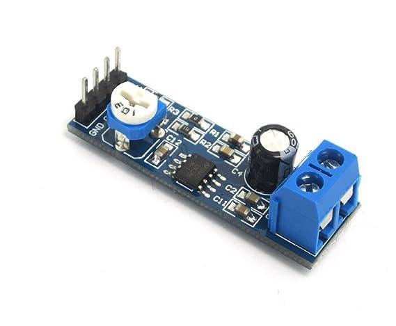 DollaTek Módulo de Amplificador de Audio LM386 200 Veces 5-12V 10K Resistencia Ajustable: Amazon.es: Electrónica