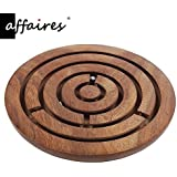 "Wooden Labyrinth Board Game, Ball in Maze Puzzle Handcrafted, Wooden Labyrinth Puzzle,Gift your Valentine's Dia 4"" by Affaires W-40149"
