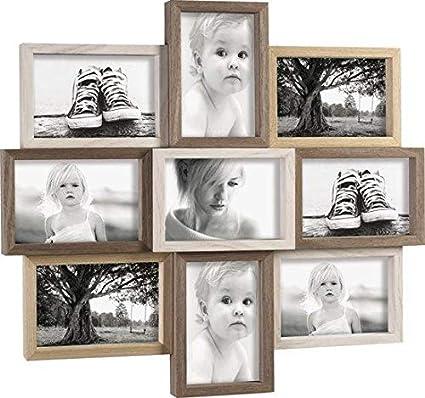 Mascagni Cornice Portafoto Multiplo In Legno 9 Foto 10x15 Da Muro 51x46 Cm Amazon It Cancelleria E Prodotti Per Ufficio