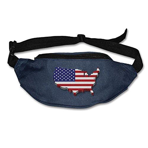 Alone Waist Bag Fanny Pack Us Flag Unisex Outdoor Sports Pouch Running Belt Fitness Travel Pocket Purse ()