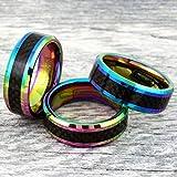 Fabulous Vibrant Metallic Rainbow Finish 8mm