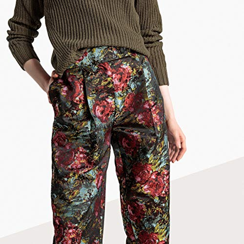 La Redoute Collections Womens Floral Jacquard Trousers,, used for sale  Delivered anywhere in USA