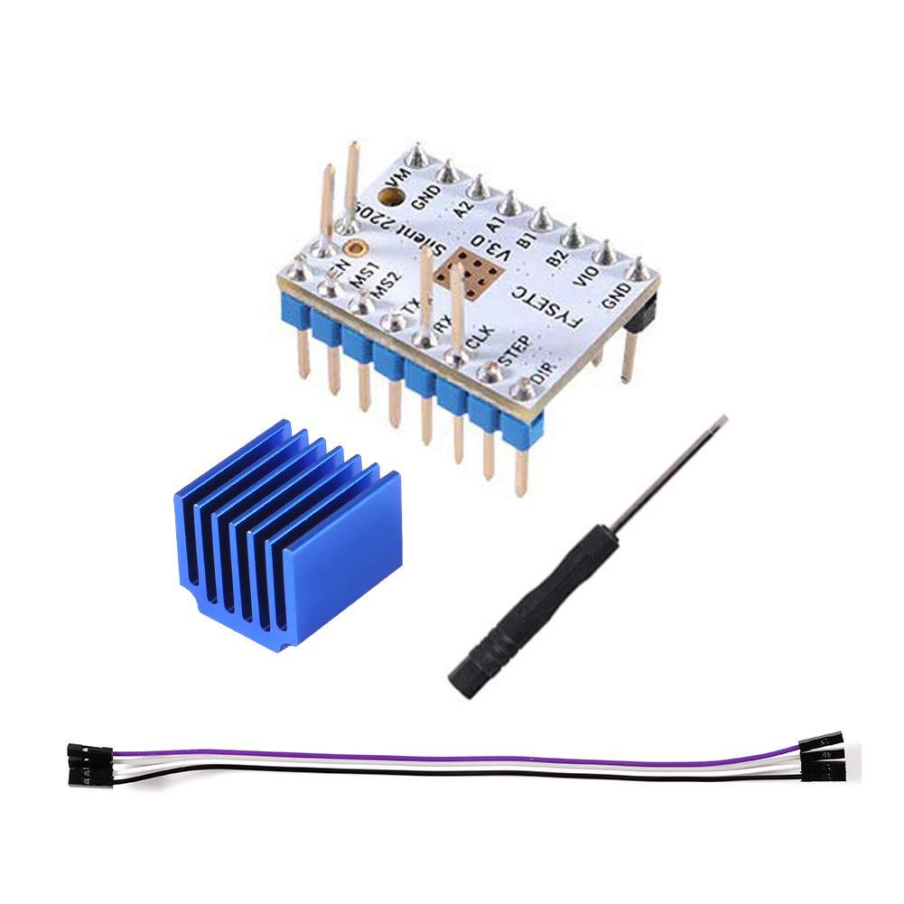Aitrip 3pcs TMC2209 V3.0 Stepper Motor Driver for 3D Printer SKR V1.3 SKR with heatsink 256 Microsteps Current 2.8A Peak for Reprap Ramps1.4 MKS Gen Mainboard Parts
