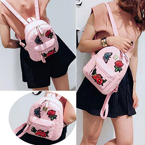 Pattern15 Travel Leather Bag Backpack Mini Cute School Girl Floral Donalworld Col1 PU vRnq4O0W
