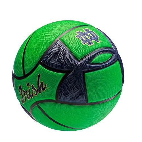 (Under Armour Notre Dame Fighting Irish Spongetech Basketball, Green, Official Size 7)