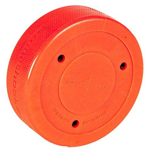 Smarthockey Puck Eishockey Off-Ice Tool für Schuss- Pass- und Stickhandlingübung Farbe orange Smart Hockey