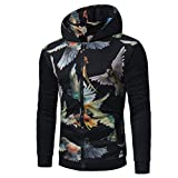 Xchenda Men Autumn Cotton V-Neck T-Shirt Casual Vintage Long Sleeve Soild Top Blouse (XL, Black)