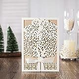 Elegant White Wedding Invitations Tree Design Kraft Paper Card Vintage Engagement Invitation Card CW6176 (100)