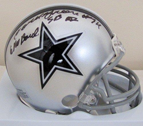 Cornell Green Autographed Mini Dallas Cowboys Helmet with Super Bowl & Pro Bowl Inscription