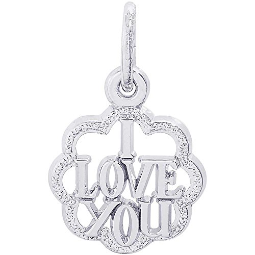 Rembrandt Charms I Love You Charm, 14K White Gold by Rembrandt Charms