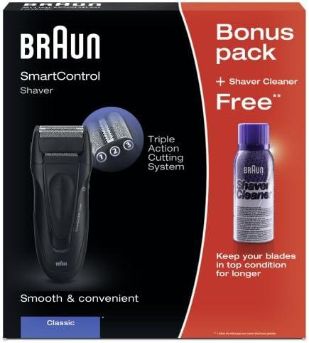 Braun Smart Control Classic + Spray - Afeitadora (Vibración, Negro ...