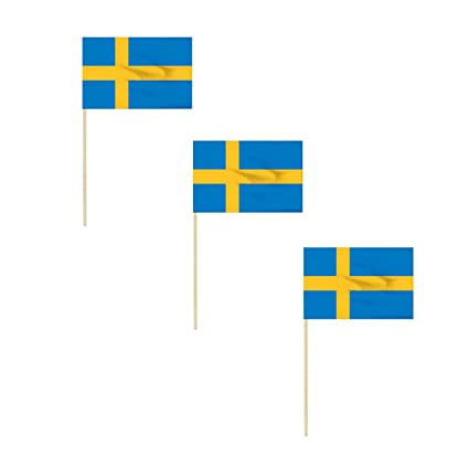 a9b279420b51 Amazon.com   Online Stores Sweden 4 x 6 Inch Cotton Stick Flag - 3 PK    Garden   Outdoor