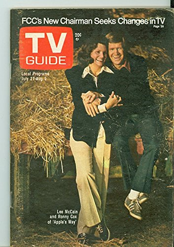 1974 TV Guide Jul 27 Apple's Way - Central California Edition NO MAILING LABEL Very Good to Excellent (4 out of 10) Used Cond. by Mickeys Pubs ()