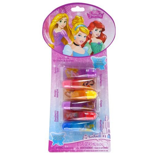 Disney Princess Flavored Lip Gloss 6 Piece Gift