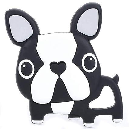 54b5da3f843 Amazon.com   Single Black French Bulldog Silicone Teether Baby ...
