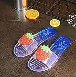 Women Summer Casual Fruit Print Flat Slippers
