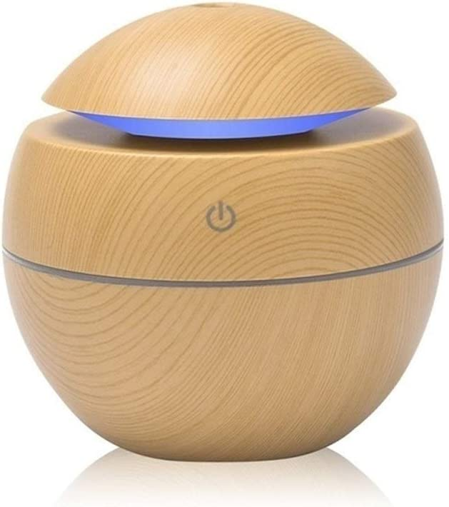 Mini Air Humidifier Ultrasonic USB Aroma Diffuser Wood Grain