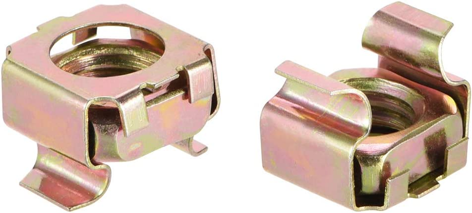 PACK OF 10 x M4 ZINC PLATED CAGE NUTS
