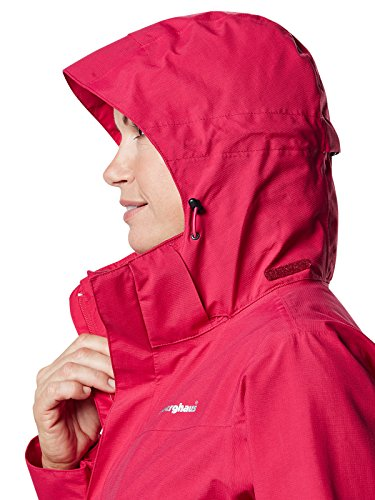 berghaus Hillwalker Chaqueta Impermeable, Mujer rojo oscuro